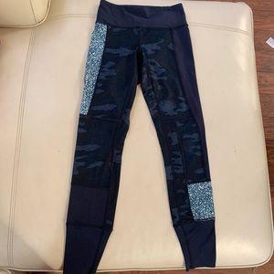 Lululemon rare camo crop blue patch 2 leggings